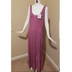 NWT Calvin Klein Striped Maxi Dress